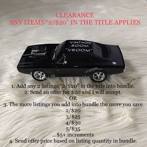 """CLEARANCE """"2/$20"""" LISTINGS ENDS HERE!"""